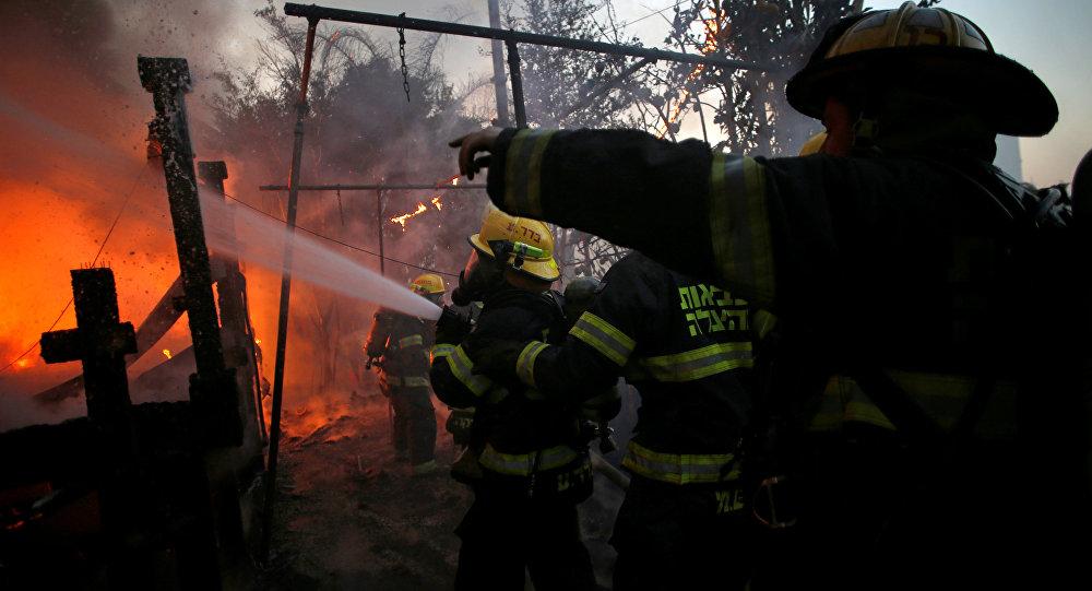 Тушение лесных пожаров в Хайфе, Израиль, 24 ноября 2016 года
