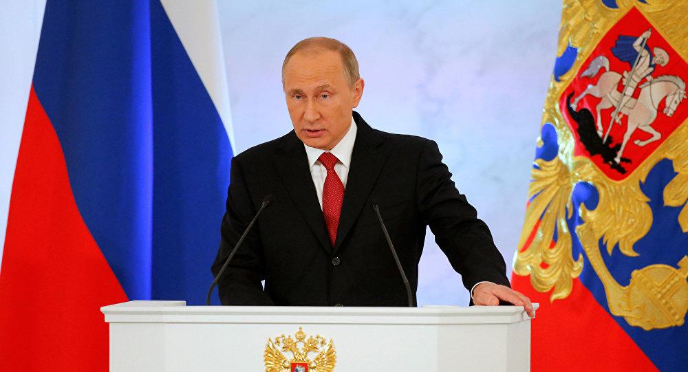 Владимир Путин обращается с ежегодным посланием к Федеральному Собранию