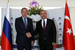 Rusiyanın xarici işlər naziri Sergey Lavrov, türkiyəli həmkarı Mövlud Çavuşoğlu ilə