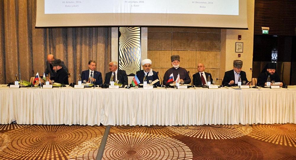 Заседание Высшего религиозного совета народов Кавказа в Баку