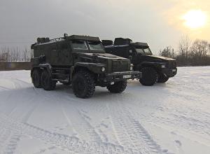 Новый 12-тонный бронемобиль Патруль: тестирование в условиях снега