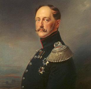 Rusiya çarı I Nikolay. Frans Krüqerin rəsmi, 1852-ci il
