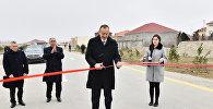 Президент Азербайджана Ильхам Алиев принял участие в открытии в Сабунчинском районе Баку капитально реконструированной автомобильной дороги Рамана-Маштага и пятикилометрового участка автодороги, фото из архива