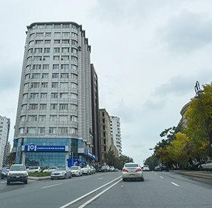 Bakıda bank binaları, arxiv şəkli