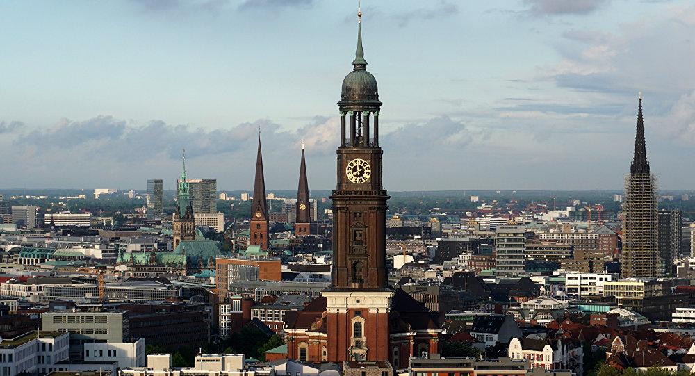 Вид на Гамбург, фото из архива