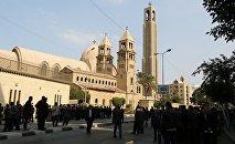 На месте взрыва в Каире в церкви