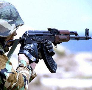 Военнослужащий азербайджанской армии, архивное фото