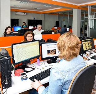 Sputnik Azərbaycan informasiya agentliyinin Xəbərlər studiyası