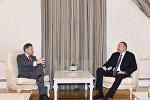 Президент Азербайджана Ильхам Алиев принял новоназначенного сопредседателя Минской группы ОБСЕ от Франции Стефана Висконти