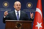 Министр иностранных дел Турции Мевлют Чавушоглу, архивное фото