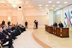 Prezident İlham Əliyev və İsrailin Baş naziri Benyamin Netanyahu mətbuata bəyanatlarla çıxış ediblər
