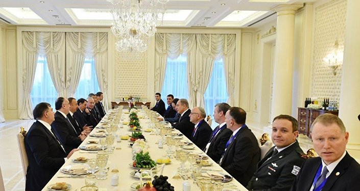 İlham Əliyevin İsrailin Baş naziri Benyamin Netanyahu ilə birgə işçi naharı olub