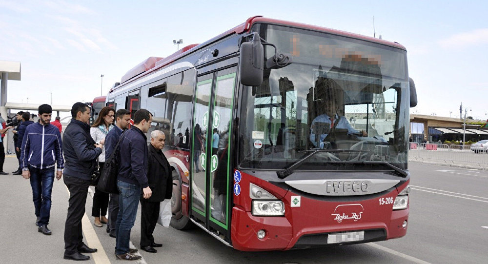 BakuBus MMC-yə məxsus avtobus, arxiv şəkli
