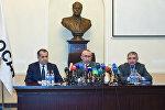 Пресс-конференция в связи с пропавшими без вести нефтяниками ПО Азнефть