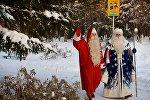 Şaxta baba və Santa Klaus, arxiv şəkli