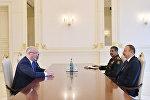 Встреча Президента Азербайджана Ильхама Алиева с делегацией во главе с министром обороны Грузии Леваном Изория