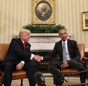 Donald Tramp və Barak Obama, 10 noyabr 2016-cı il