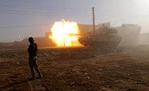 Türkiyə ordusuna aid tankı Suriyada, arxiv şəkli