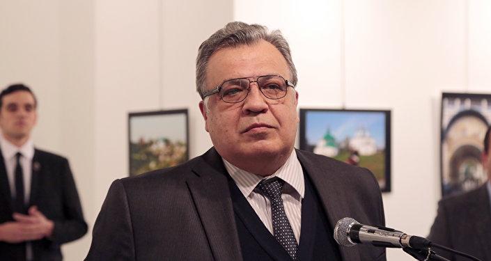 Выступление Андрея Карлова в художественной галерее в Анкаре