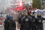 Акция протеста мигрантов во Франции, фото из архива