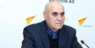 Политолог Расим Агаев в ходе видеомоста в Мультимедийном пресс-центре Sputnik Азербайджан