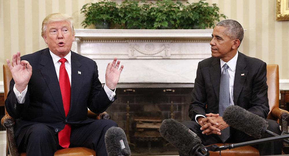 ABŞ-ın eks prezidenti Barak Obama və yeni seçilmiş prezident Donald Tramp