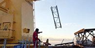 Поисково-спасательные работы на месте аварии, произошедшей на нефтесборном пункте ПО Азнефть