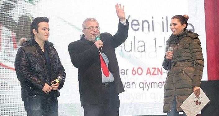 Formula 1 üzrə şərhçi Rəhim Əliyev və azərbaycanlı Formula 3 pilotu Gülhüseyn Abdullayev
