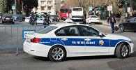 Автомобиль дорожно-патрульной службы в Баку, фото из архива