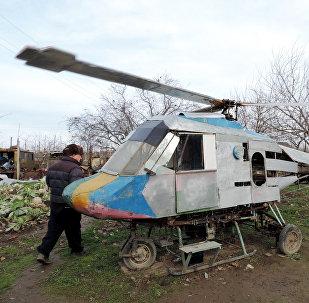 Вертолет, собранный Мирзаханом Имамвердиевым