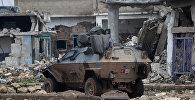 Türk hərbi texnikası Suriyanın əl-Rai şəhərində, 5 yanvar 2017-ci il