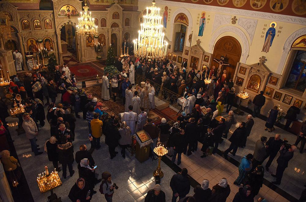Рождественская ночь в Кафедральном соборе Жен Мироносиц в Баку