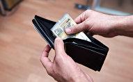 Кошелек с деньгами, фото из архива