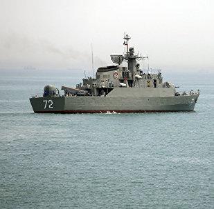 Hörmüz boğazında, ABŞ donanmasına aid Alborz
