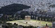 Вид на Афины с высоты Акрополя
