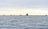 Корабли в Каспийском море, фото из архива