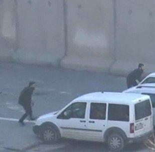 Türkiyənin Qaziantep şəhərində polis bölməsi qarşısında atışma baş verib