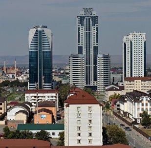Вид на город Грозный, фото из архива
