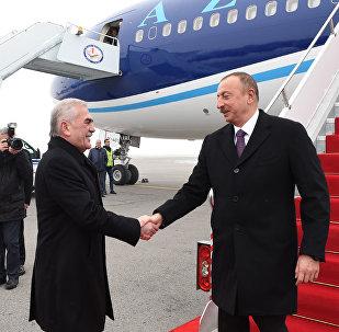 Prezident İlham Əliyev Naxçıvan Muxtar Respublikasına səfərə gəlib