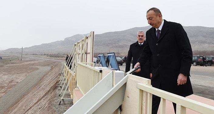 İlham Əliyev Ordubad Su Elektrik Stansiyasının təməlqoyma mərasimində iştirak edib