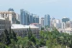 Вид на город Баку