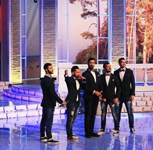 Сборная команда Баку на музыкальном фестивале Голосящий КиВиН, фото из архива