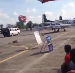 Истребитель разбился во время авиашоу в Тайланде