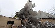 Обломки самолета на месте крушения Boeing-747 от аэропорта Манас в Кыргызстане
