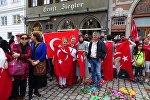 Türklər Almaniyada anti-terror mitinqi keçirdilər