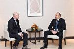"""Prezident İlham Əliyev Davosda """"Procter and Gamble Europe"""" şirkətinin prezidenti ilə görüşüb"""
