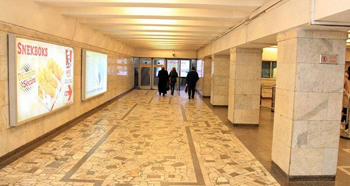 Первый вестибюль станции Иншаатчылар Бакинского метрополитена