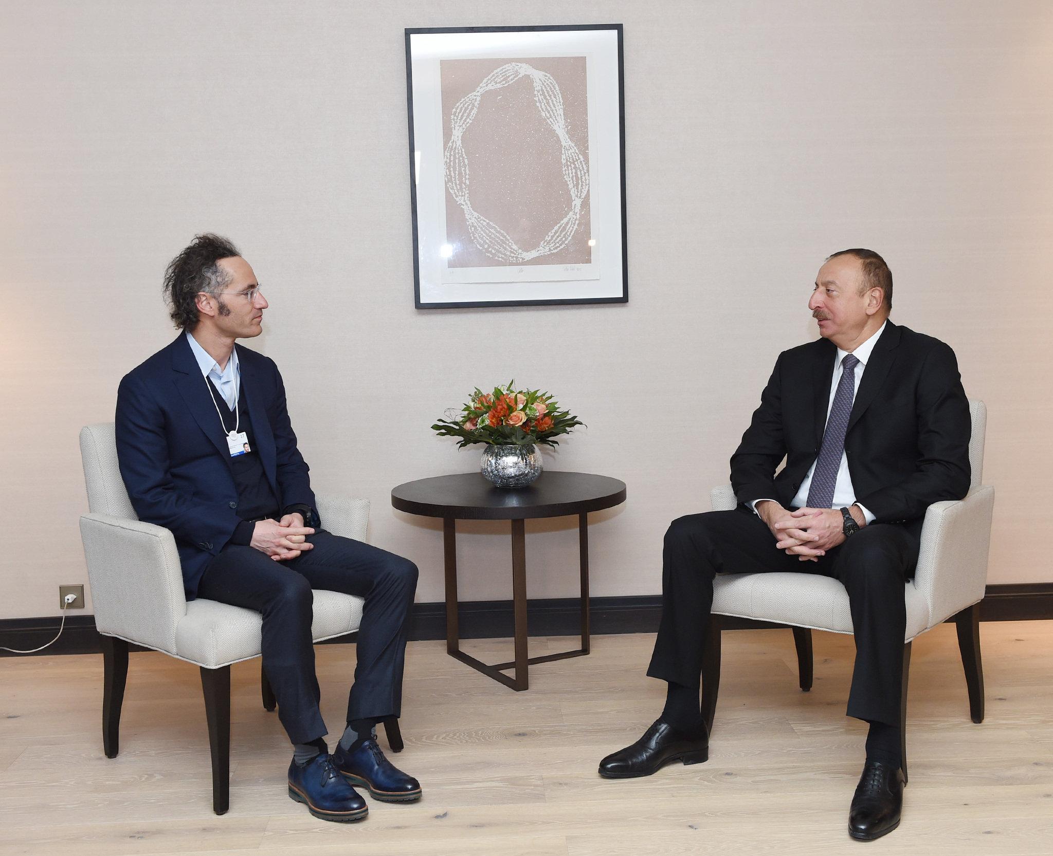 Учредитель компании Palantir Technologies Алекс Карп на встрече с Президентом Азербайджана Ильхамом Алиевым