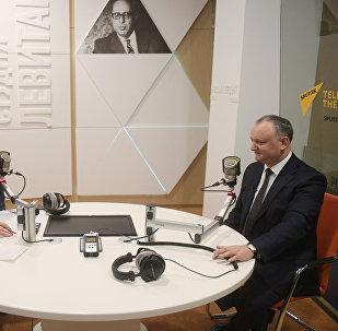 Президент Молдавии И. Додон дал интервью гендиректору МИА Россия сегодня Д. Киселеву