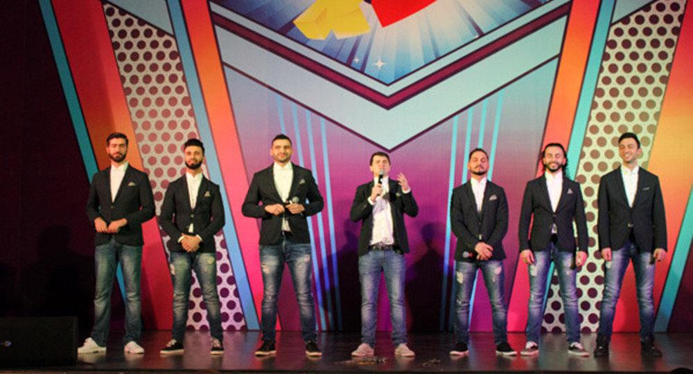 Команда Сборная Баку на сцене 28-го Международного фестиваля КиВиН-2017